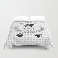 chihuahua Duvet Covers featuring Chihuahua Love by naturessol