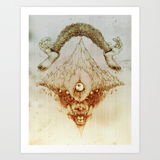 Wolf Mountain Art Print