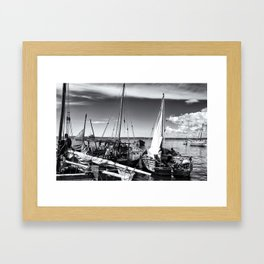 Dhow Zanzibar Indian Ocean Framed Art Print