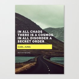 Carl Jung Order Chaos Canvas Print