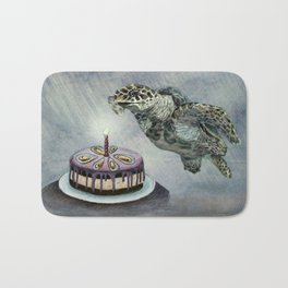 Turtle Birthday Bath Mat