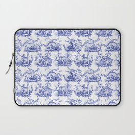 Blue Chinoiserie Toile Laptop Sleeve