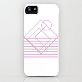 Goemetric sunset in pink iPhone Case