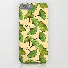 Ginkgo Leaf - Cream iPhone Case