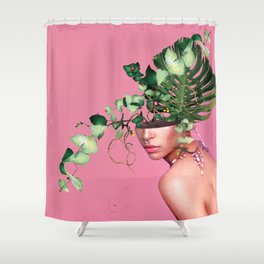 Lady Flowers VI Shower Curtain