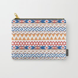 Ikat borders art print Carry-All Pouch