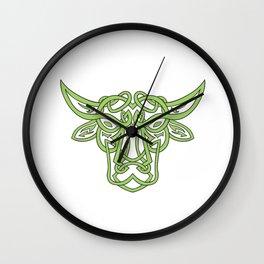 Taurus Bull Celtic Knot Wall Clock