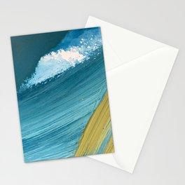 Paradise: a vibrant, minimal, abstract mixed media piece Stationery Cards