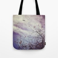 flight Tote Bags featuring FLIGHT by ALLY COXON