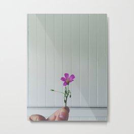 Weed on Wall Metal Print