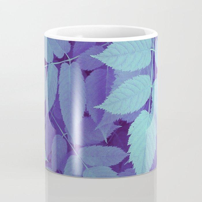 blue fall leaves Coffee Mug