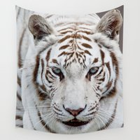 tigers Wall Tapestries featuring TIGER TIGER by Catspaws