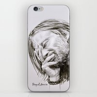 radiohead iPhone & iPod Skins featuring Radiohead Portrait by Raquel García Maciá
