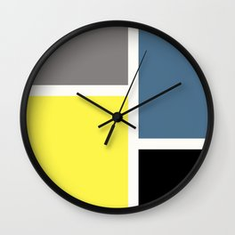 Colorful rectangles Wall Clock