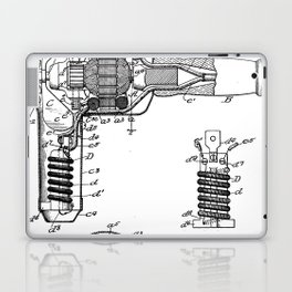 Hair Drier Patent - Salon Art - Black And White Laptop & iPad Skin