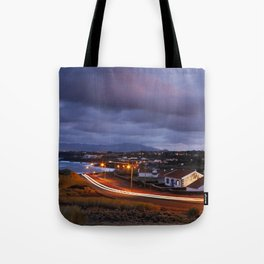 Village in twilight Tote Bag