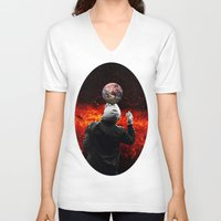 football V-neck T-shirts featuring Football by Cs025