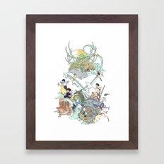Ghibli Framed Art Print