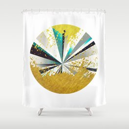 golden circle Shower Curtain