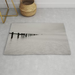 black and white untitled ocean Rug
