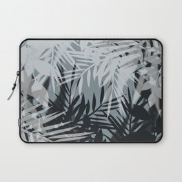 Gray Leaves pattern . Laptop Sleeve