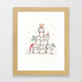 Oh Penguin Tree Framed Art Print