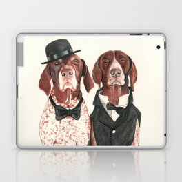 german short hair pointers - F.I.P. @ifitwags (The pointer brothers) Laptop & iPad Skin