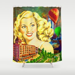 GD. HOTEL DE LA PAIX Shower Curtain