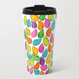 We Were Just Babies When We Were Born colorful pattern peaceful illustration ink painting abstract Travel Mug