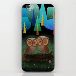 Owl Pals In The Forest iPhone Skin