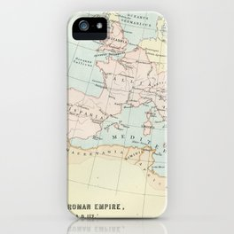 Vintage Map Of The Roman Empire iPhone Case