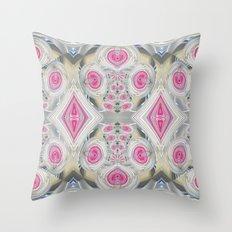 An Abundance of Magical Crystal Candies Throw Pillow