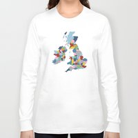 uk Long Sleeve T-shirts featuring UK by Project M