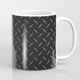 Dark Industrial Diamond Plate Metal Pattern Coffee Mug