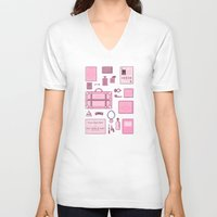 the grand budapest hotel V-neck T-shirts featuring Grand Budapest Items by M. Gulin