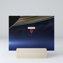 You are here: Cassini, Pale Blue Dot Mini Art Print