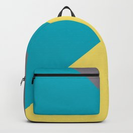 Blue-Green Yellow Gray Abstract Pattern 2021 Color of the Year AI Aqua 098-59-30 Backpack