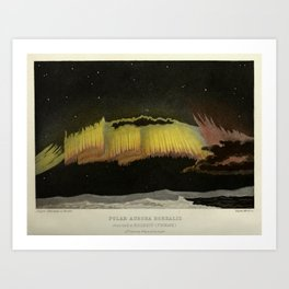 "Aurora borealis, from ""The Forces of Nature"" (1877) Art Print"