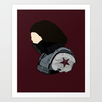 bucky barnes Art Prints featuring Bucky by Swell Dame