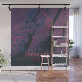 Jersey City, United States - Neon Wall Mural