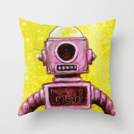 Meh Bot Throw Pillow