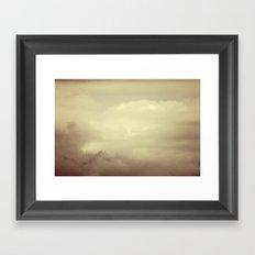 Alaskan clouds Framed Art Print