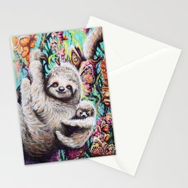 Sloth Family Stationery Cards