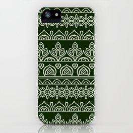Stripes Mandala 9 iPhone Case