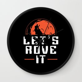 Mars Landing | Let's Rove It | Space Travel Gift Wall Clock