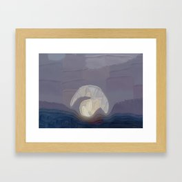 Visible By The Wheel Of Light Framed Art Print