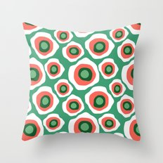 Fried Circles, Minty Yam Throw Pillow