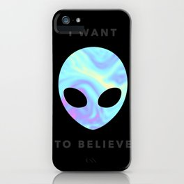 Alien baby (I want to believe) iPhone Case