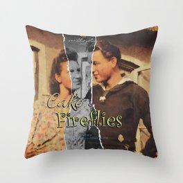Cake & Fireflies Throw Pillow