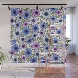 Poppy Purples Wall Mural